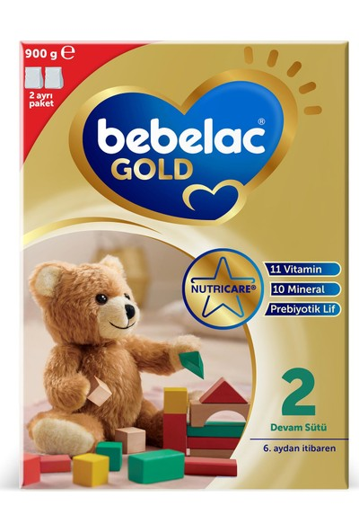 Bebelac Gold 2 Devam Sütü 900 gr 6-12 Ay