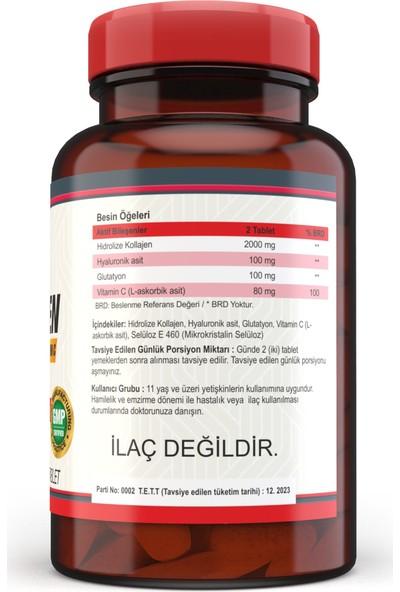 Nevfix Kolajen Hyaluronic Acid 120 Tablet Selenium 200 Mcg 120 Tablet