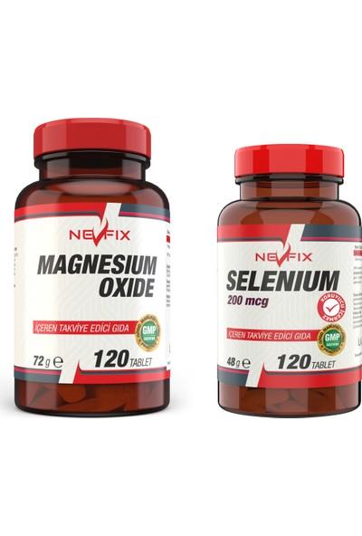 Nevfix Selenium 200 Mcg 120 Tablet Magnezyum 250 mg 120 Tablet