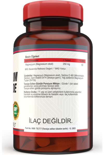 Nevfix Magnezyum 250 mg 120 Tablet Biotin 5000 Mcg 120 Tablet