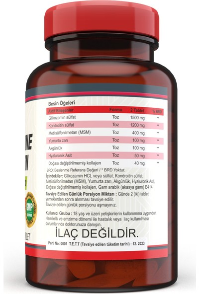 Nevfix Glucosamine Chondroitin Msm 120 Tablet B12 Folic Acid & Biotin 120 Tablet