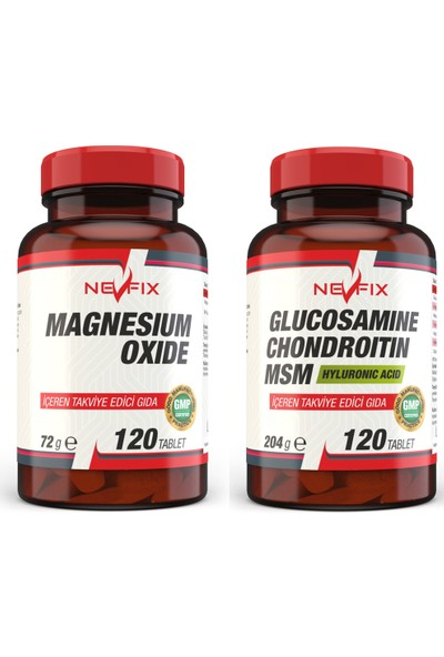 Nevfix Magnezyum 120 Tablet Glucosamine Chondroitin Msm 120 Tablet