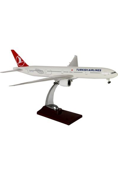 TK Collection THY Lale Boyama İniş Takımlı B777 1:200 Ölçek Maket Uçak 37 cm