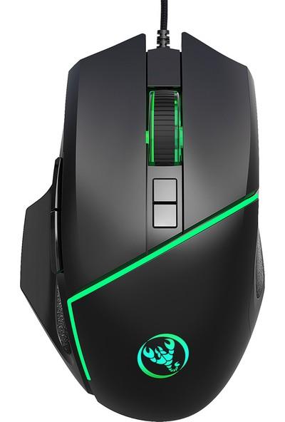 Hxsj A876 USB Kablolu Gaming Mouse Renkli Solunum Işık (Yurt Dışından)