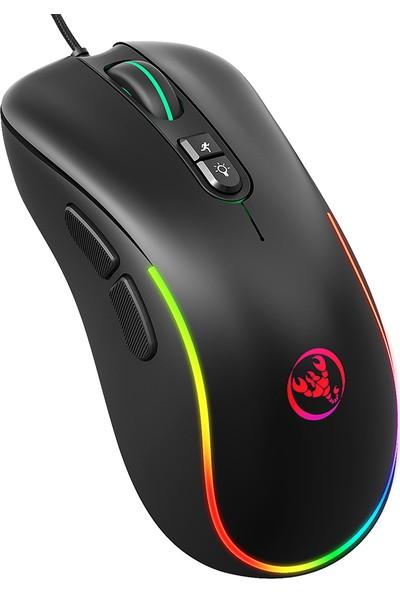 Hxsj J300 Kablolu Gaming Mouse Yedi Anahtar Makro Programlama (Yurt Dışından)