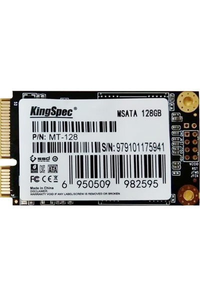 Kingspec Msata Mini PCI-E 128GB (Yurt Dışından)
