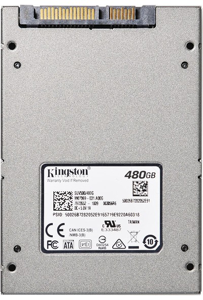 Kingston UV500 SUV500 / 480GB 2.5 Sata III SSD (Yurt Dışından)