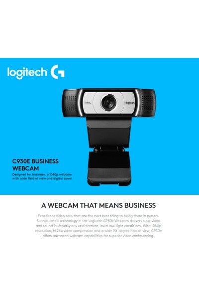 Logitech C930E 960-000972 USB HD Webcam (Yurt Dışından)