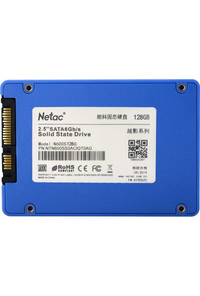 "Netac N600S 128GB SSD 2.5"" Sata III HDD Sabit Disk (Yurt Dışından)"