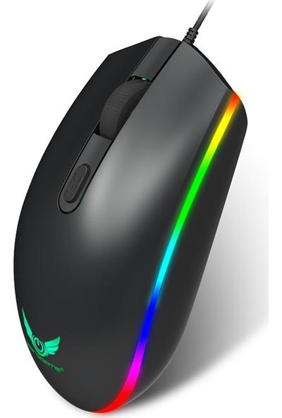 Zerodate S900 Bilgisayar Oyun Faresi 1600 Dpi 4 Düğmeler RGB LED (Yurt Dışından)
