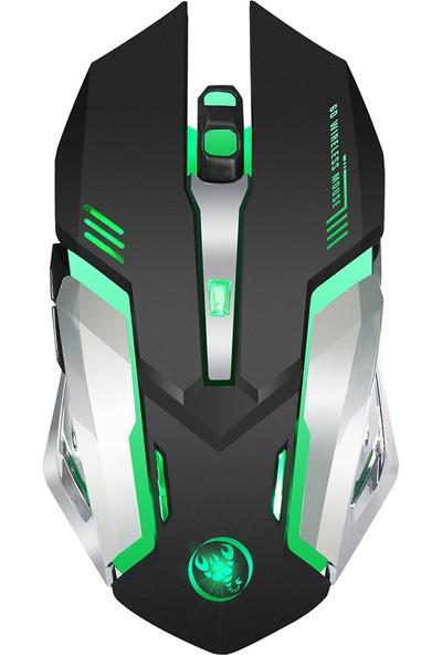 Hxsj M10 Oyun Kablosuz Fare 2400 Dpi Şarj Edilebilir 7 Renk (Yurt Dışından)