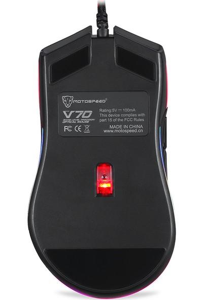 Motospeed V70 USB Kablolu Oyun Faresi RGB Arka Işık 12000 (Yurt Dışından)