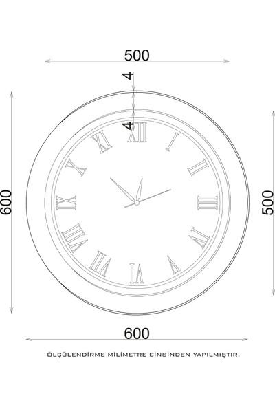Camex Modern Tasarım Gri Roma Rakamlı Duvar Saati