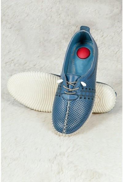 Hoba Tekstil Kadın Mavi 5 Noktalı Günlük Rahat Ayakkabı