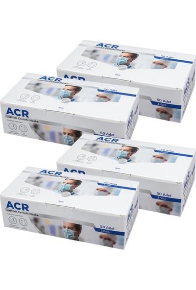 Acr 3 Katlı Telli ve Full Ultrasonik Cerrahi Maske 50 Li x 4 Adet
