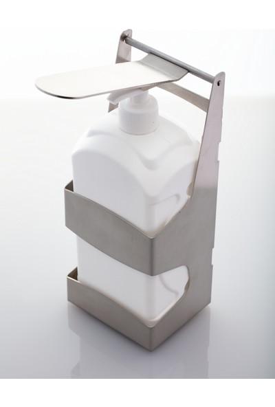 ALER Plastik El Dezenfektan Pompalı Paslanmaz Çelik Duvar Askı Aparatı