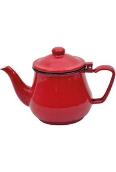 Nurgaz Campout Emaye Çaydanlık Seti - Kırmızı