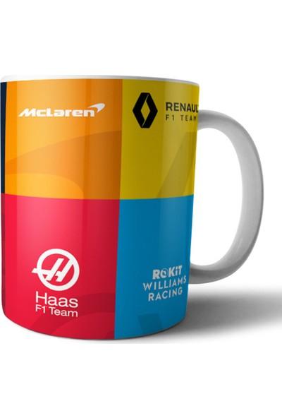 Pixxa Formula 1 Takım Logoları Kupa Bardak