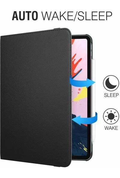 """Fibaks Apple iPad Air 3. Nesil (2019) 10.5"""" Kılıf + Kalem 360 Derece Dönebilen Standlı Tam Koruma Uyku Modlu Kapaklı Lacivert"""