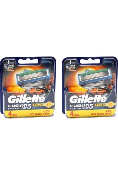 Gillette Tıraş Bıçağı Fusion Proglide Power 4'lü Başlık x 2 Adet