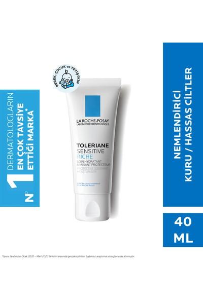 La Roche-Posay Toleriane Sensitive Riche Prebiyotik Krem Kuru/Hassas Ciltler 40Ml