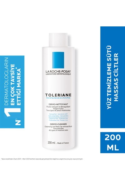 La Roche-Posay Toleriane Dermo Nettoyant Temizleme Sütü Ultra Hassas Ciltler 200Ml