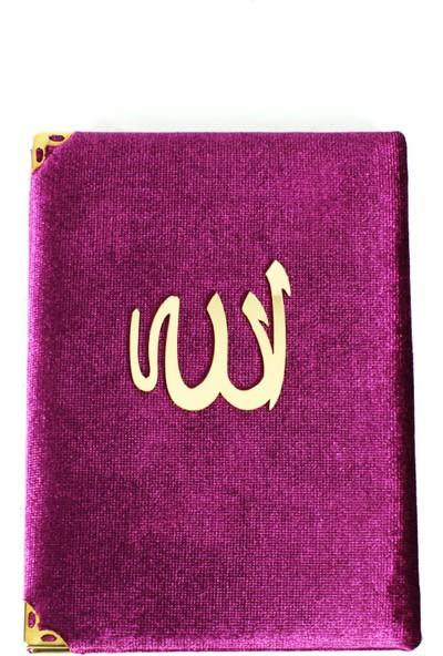 Kadife Kaplı Allah(Cc) Lafızlı Yasin I Şerif Mor H058