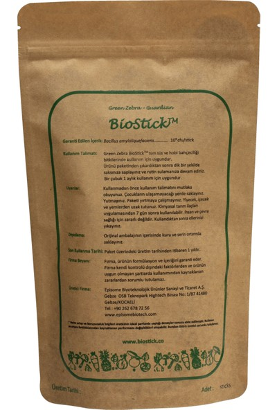 Green Zebra BioStick 5'li Süper Paket / 5 Paket Guardian
