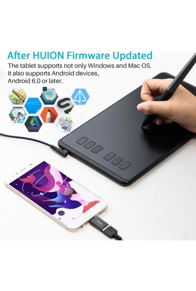 Huion Inspiroy H640P Grafik Tablet 8192 (Yurt Dışından)