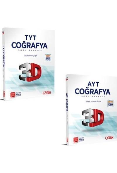 Çözüm Yayınları 3D Yayınları TYT AYT Coğrafya Soru Bankası Fırsat Seti