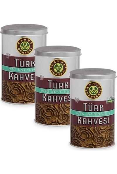 Kahve Dünyası Orta Kavrulmuş Kahve 3 Paket 250 gr