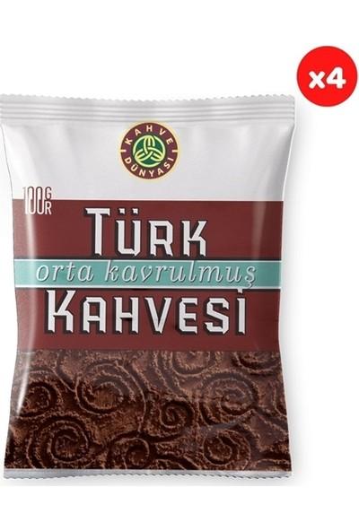 Kahve Dünyası Kahve Dünyası Orta Kavrulmuş Türk Kahvesi 100 gr (4'lü Paket)