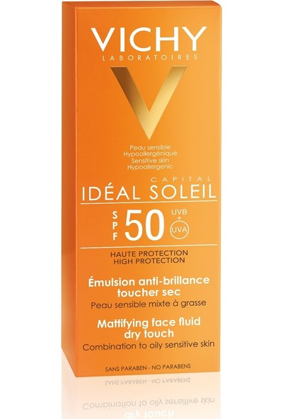 Vichy Ideal Soleil Spf50+ Mattifying Face Fluid Dry Touch 50ml