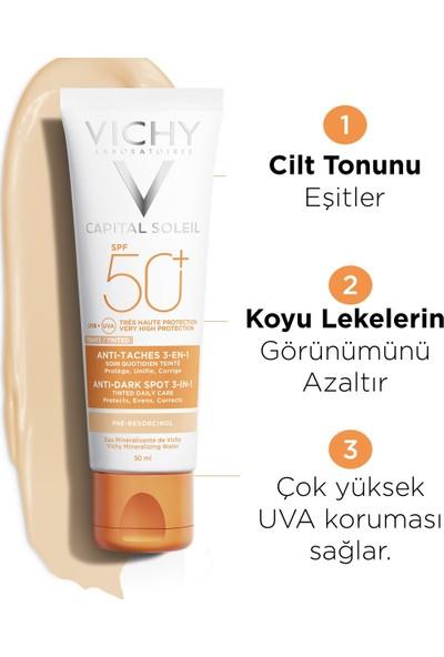 Vichy Ideal Soleil Güneş Kremi Leke Karşıtı E Vitamini Yüksek Koruma SPF50 50 ml