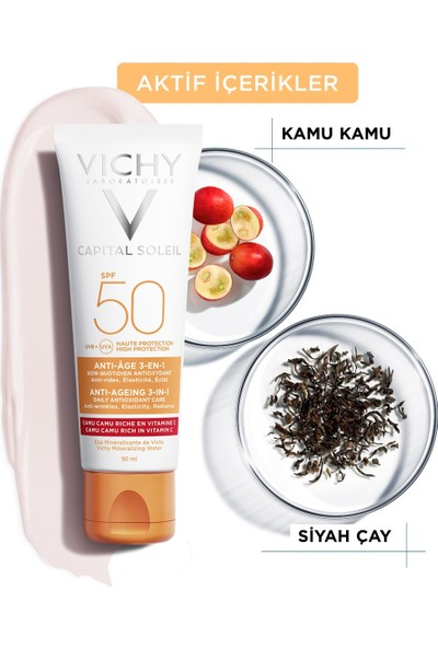 Vichy Ideal Soleil SPF 50 Anti Age Güneş Kremi 50 ml