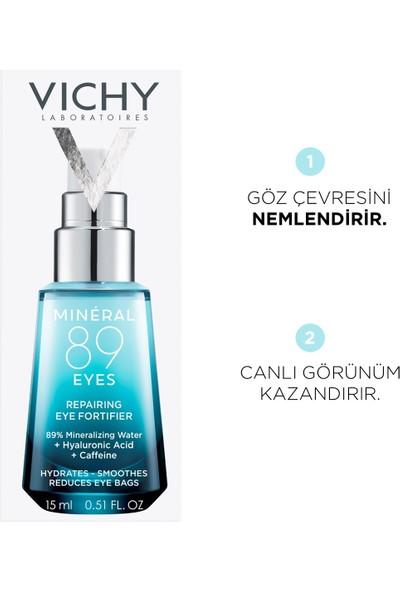 Vichy Mineral 89 Göz Çevresi Bakımı Kaynaklı Hyalüronik Asit ve Saf Kafein ile Nemlendirme 15 ml