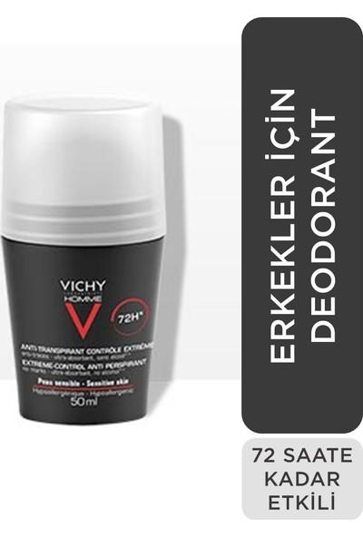 Vichy Roll On Deodoroant Erkekler İçin Terleme Karşıtı 72 Saat Etkili 50 ml