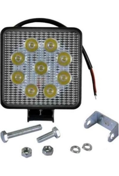 Ars Off Road Sis Farı Sis Lambası 9 LED Kare 2'li