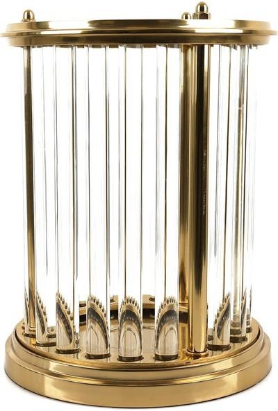 Lucky Art Krıstal Cubuklu Gold Mumluk 27 x 35 cm