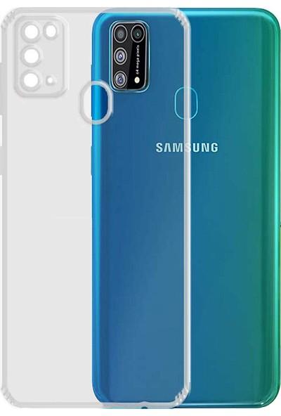 Kzy Samsung M31 Tıpalı Kamera Korumalı Şeffaf Premier Kılıf
