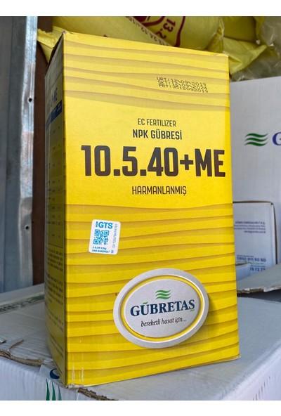 Gübretaş 10 5 40 + ME İz Elementli ( Bakır Demir Mangan Çinko ) Tamamı EDTA ile Şelatlı Amonyum ve Nıtrat Azotu Fosfor Potasyum Harmanlanmış Sebze ve Meyve Büyümesini Sağlayan Toz NPK Gübresi 5 Kg