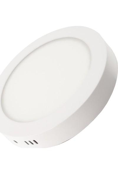 Ack 12 W 4000K Ilık Beyaz Sıva Üstü Yuvarlak LED Panel Armatür AP03-01210