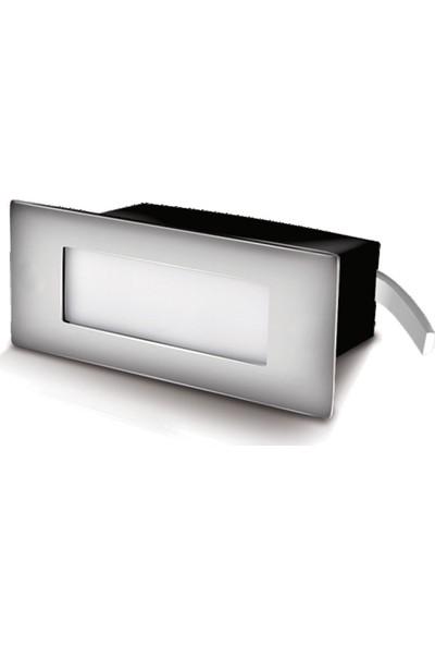 Ack 6500K Beyaz Dikdörtgen LED Merdiven Duvar Armatürü AH07-01134