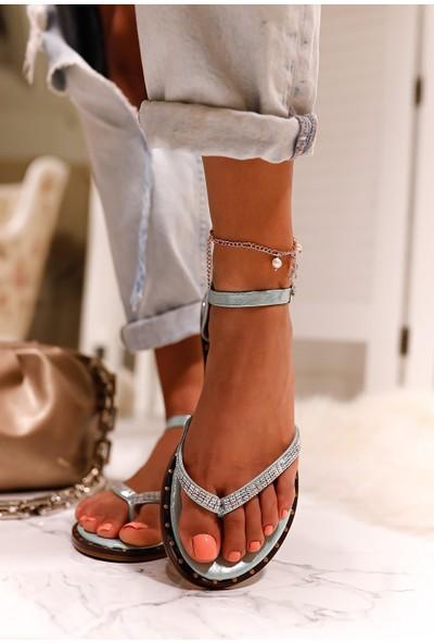 Limoya Mina Taşlı Parmak Arası Sandalet