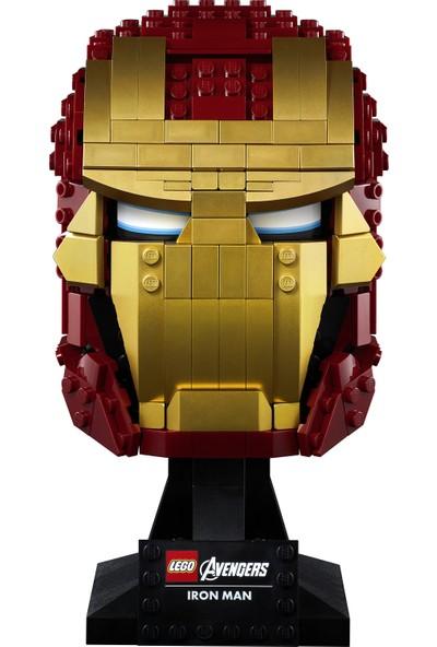 LEGO® Marvel Avengers 76165 Iron Man Kaskı Yetişkin ve Çocuk Marvel Hayranları için Sergilenebilir Büst Oyuncak Yapım Seti (480 Parça)