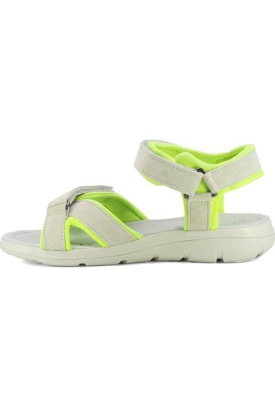 Eşle 20Y 3541 Kadın Deri Sandalet Yeşil