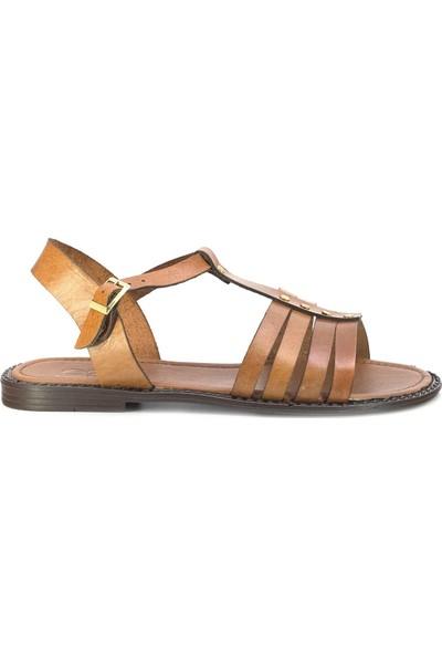 Eşle 20Y 107 Deri Kadın Sandalet Taba