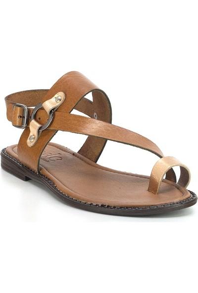 Eşle 20Y 111 Deri Kadın Sandalet Taba