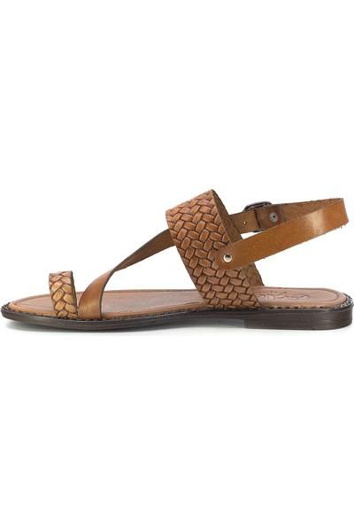 Eşle 20Y 111-1 Deri Kadın Sandalet Taba