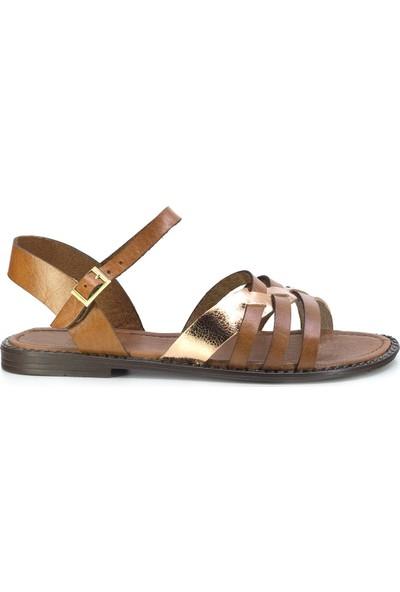 Eşle 20Y 113 Deri Kadın Sandalet Taba